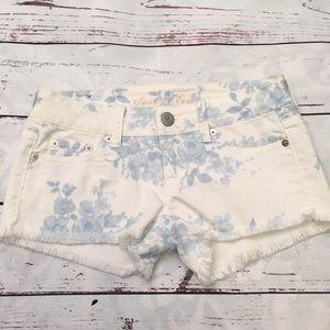 American Eagle blue rose shorts